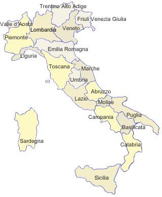 Italien Karte Regionen.Italienisch Sprachreisen Nach Italien Landkarte Und übersicht